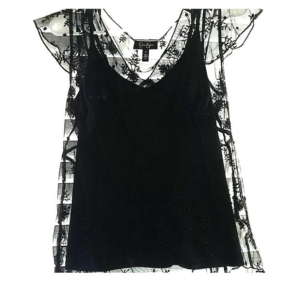 Jessica Simpson Tops - Black lace top